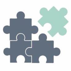 Pièces de puzzle représentant l'interopérabilité entre chaque logiciel d'agenda partagé